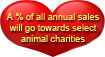 A % of all profits will go to select animal charities